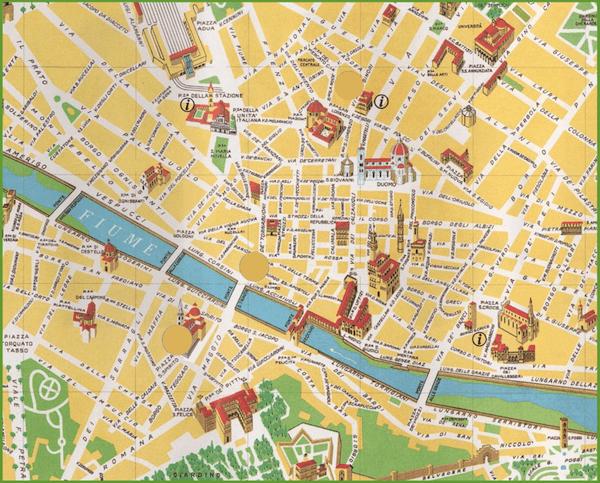 χάρτης Φλωρεντίας