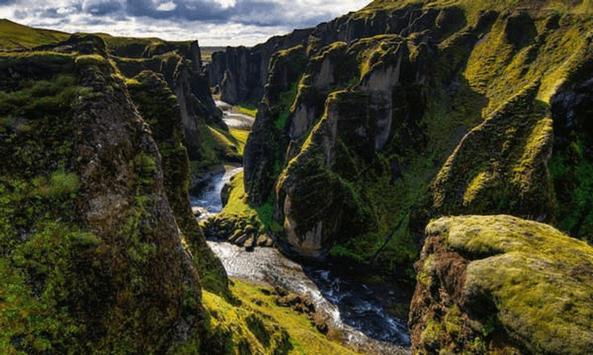 faraggi Fjaðrárgljúfur islandia